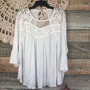 Maurice Womens Size 3 white Blouse